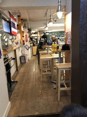 釣り掘りカフェ Catch&Eat 吉祥寺店 店内に入ってスグ