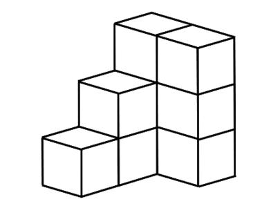 積み木による立体図形