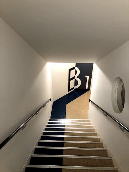 聖徳学園の階段